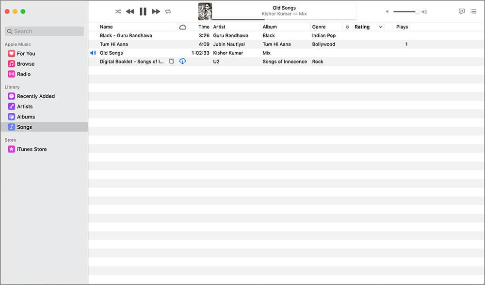 Launch Music app on Mac