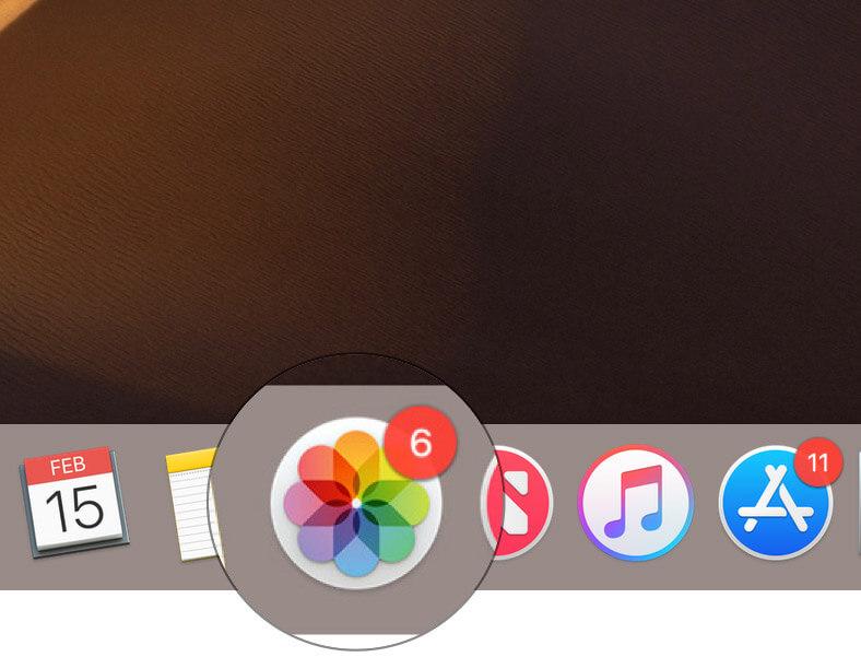 Launch Photos app on Mac