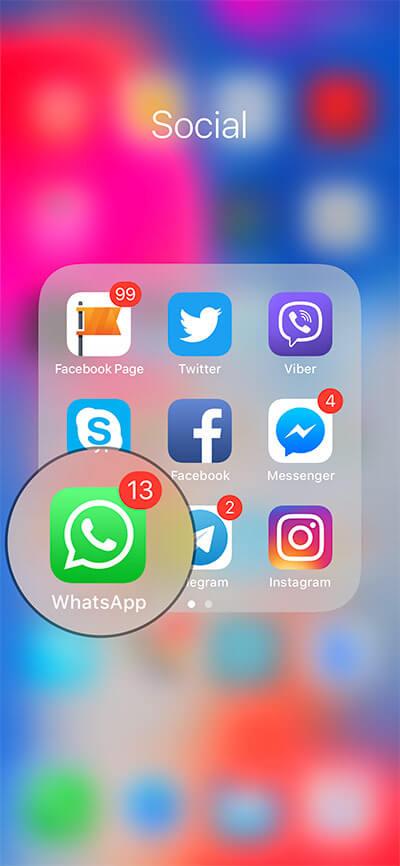 Launch WhatsApp on iPhone