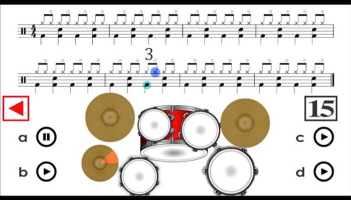 Learn How to Play Drums iPhone and iPad App Screenshot