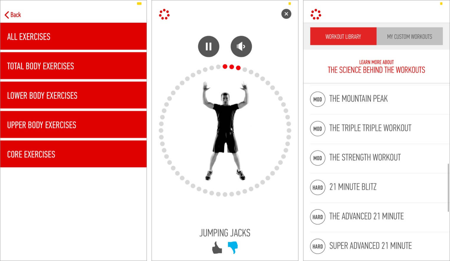 Learn each exercise individually on J and J Official iPhone app