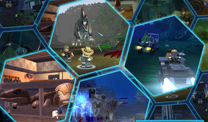 Lego Jurassic World iPad Pro Game Screenshot