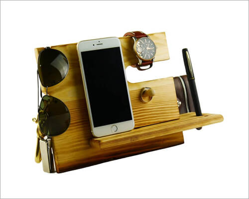 Lemo iPhone 11, 11 Pro and 11 Pro Max Wooden Docking Station