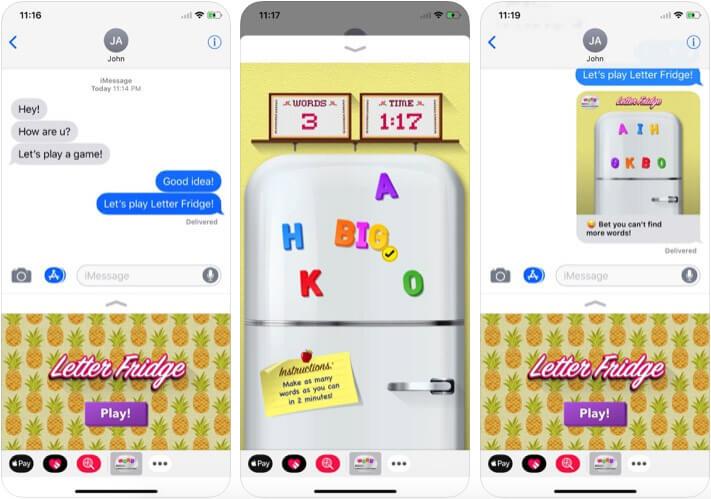 Letter Fridge iMessage Game App Screenshot