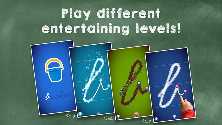 LetterSchool iPhone and iPad Handwriting App Screenshot