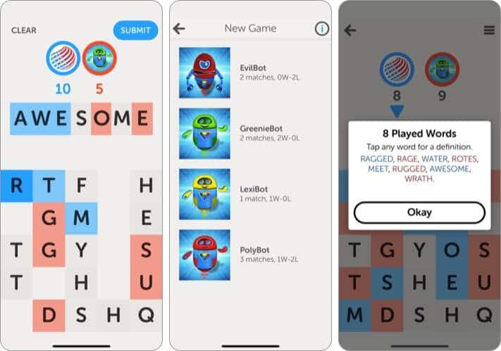 Letterpress Word Game iPhone and iPad App Screenshot