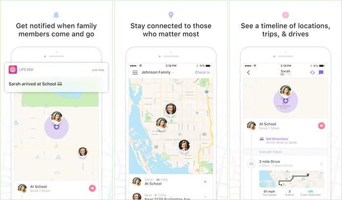 Life360 iPhone App Screenshot