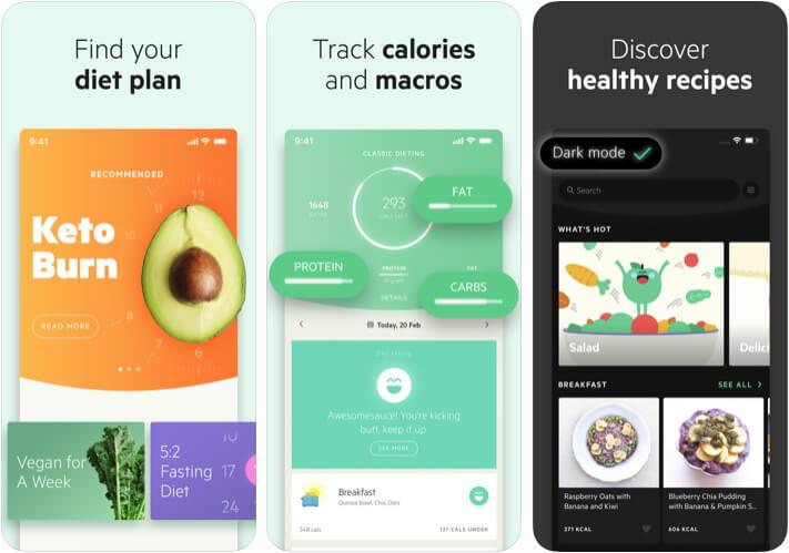 Lifesum Diet and Macro Tracker iPhone and iPad Diet App Screenshot