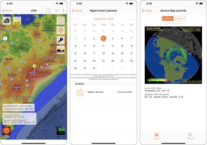 Light Pollution Map - Dark Sky astrophotography iPhone app screenshot