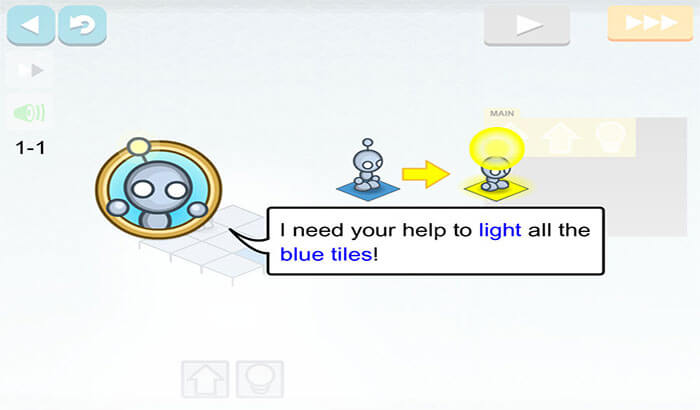 Lightbot Programming Puzzles iPhone and iPad App Screenshot