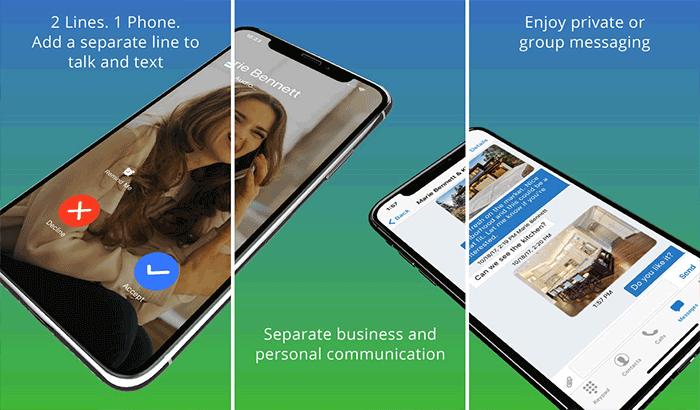 Line2 iPad Calling App Screenshot
