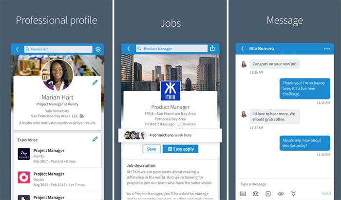 LinkedIn iPhone and iPad App