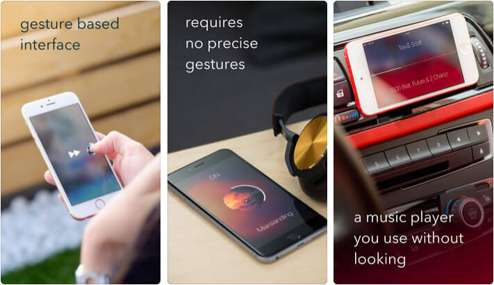 Listen Gesture Music Player iPhone and iPad App Screenshot