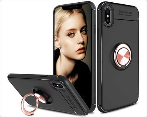 Liwarace iPhone Xs Max Ring Holder Case