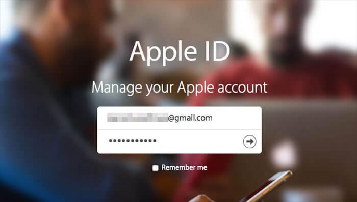 Log into Apple ID on Mac or Windows PC