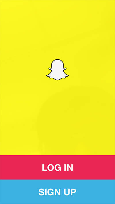 Log into Snapchat on iPhone