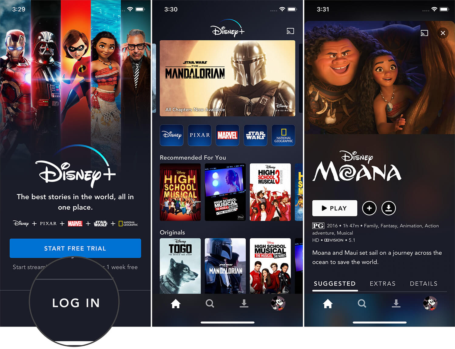 Login on iPhone to Watch Disney Plus Show and Movie in India