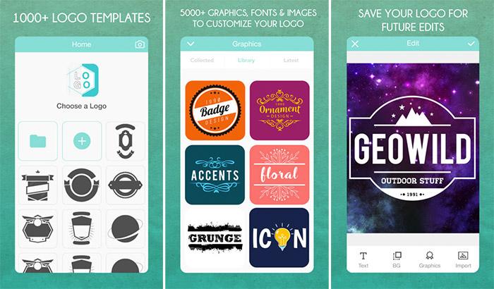 Logo Maker iPhone and iPad App Screenshot