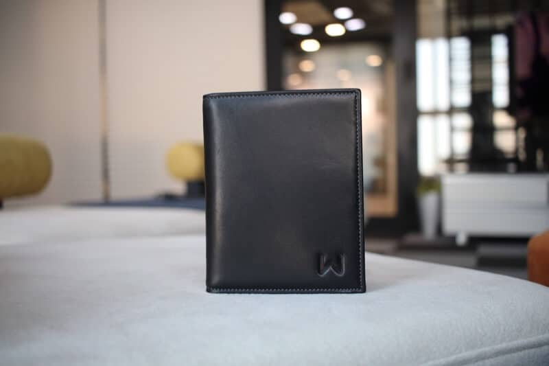 Logo on Bottom Right of The Walli Travel Smart Wallet