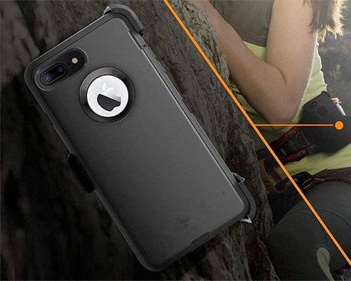 LongRise iPhone 8 Plus Belt Clip Case