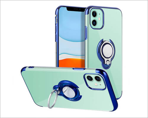 Lontect Ring Holder Case for iPhone 11
