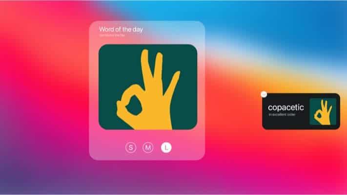 LookUp Widget for macOS