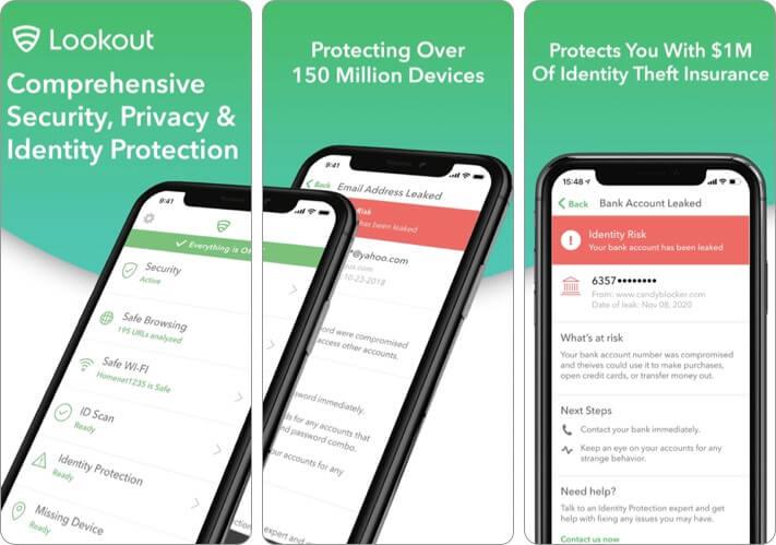 Lookout Mobile Security iPhone and iPad App Screenshot