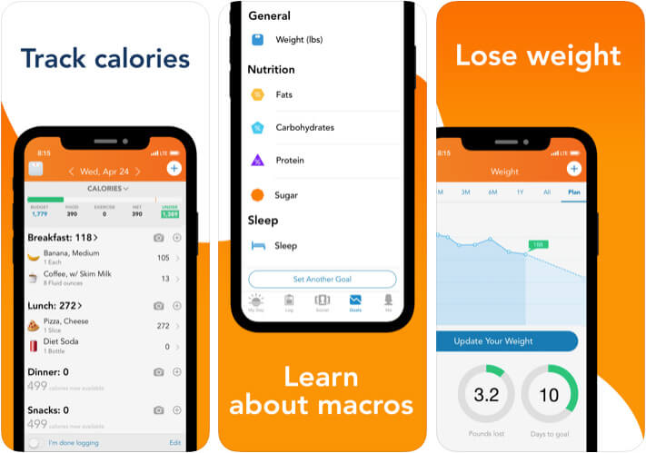Lose It Calorie Counter iPhone and iPad Diet App Screenshot