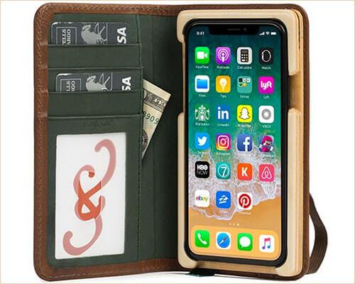 Luxury Pocket Book iPhone X Wallet Case