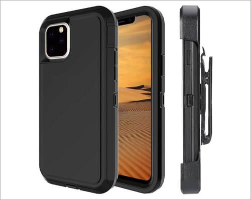 Ly Lanos iPhone 11 Pro Max Belt Clip Holster Case