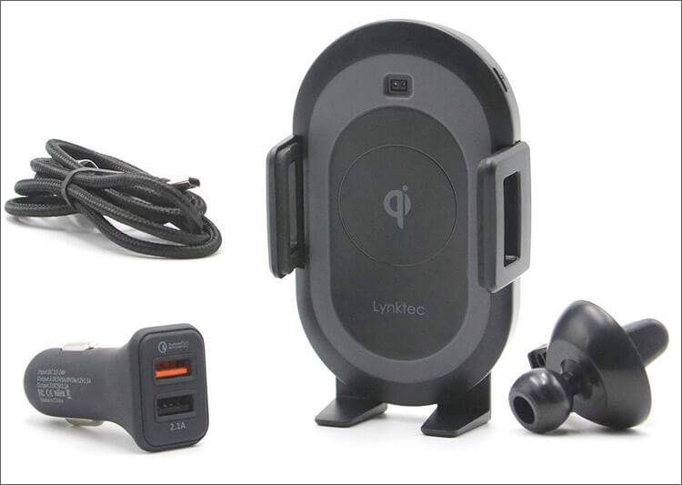 Lynktec Wireless Car Mount Charger Package