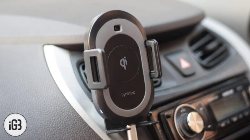 Lynktec iPhone Xs, Xs Max, and iPhone XR Wirless Car Mount Charger