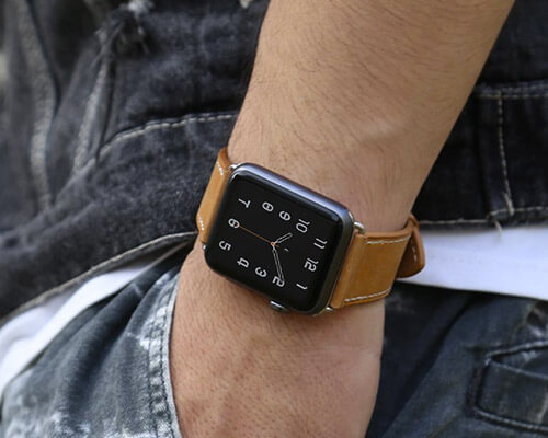 MARGE PLUS Apple Watch Series 4 Leather Band