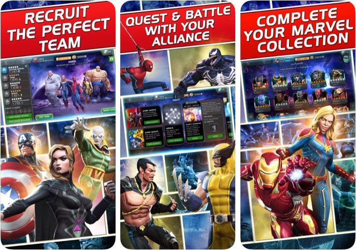 MARVEL Contest of Champions Screenshot der iOS-Kampfspiel-App