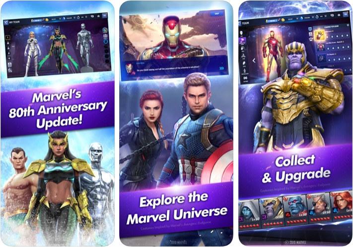 Screenshot der MARVEL Future Fight iOS-Spiel-App