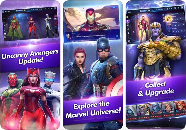 MARVEL Future Fight iPhone and iPad Superhero Game Screenshot