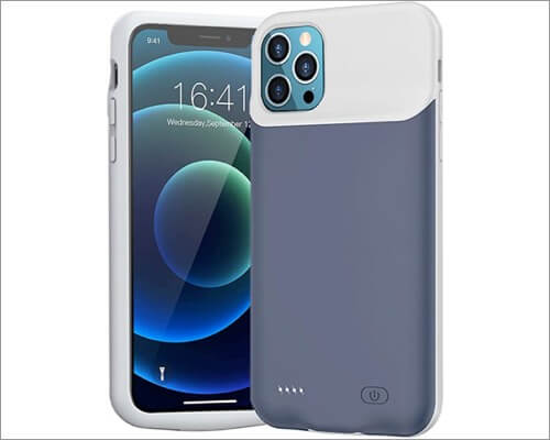 MAXBEAR Rechargeable Battery Case for iPhone 12 and 12 Pro