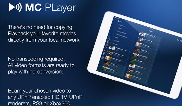 MCPlayer iPad App Screenshot