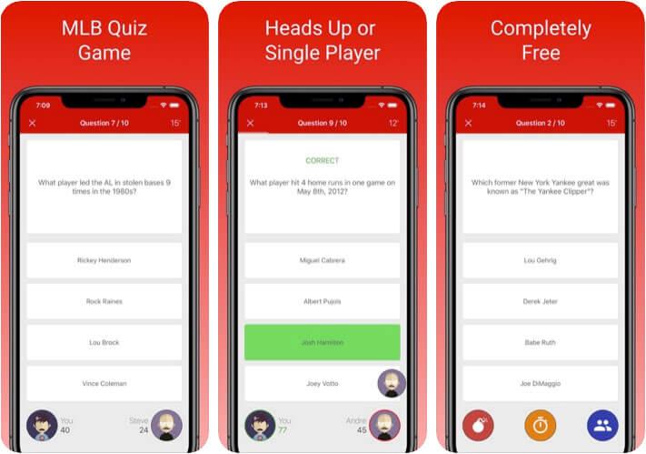 MLB Fan Quiz iPhone and iPad App Screenshot