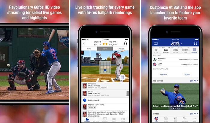 MLB.com At Bat iPhone and iPad App Screenshot