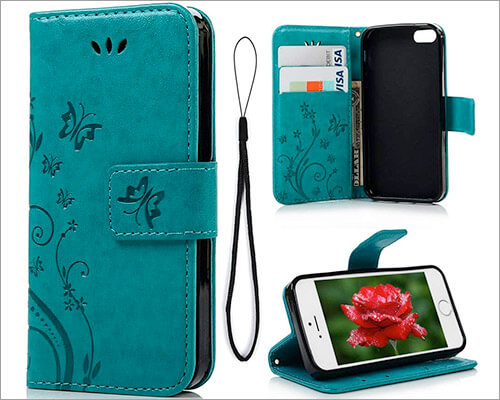 MOLLYCOOCLE iPhone SE, 5s, and iPhone 5 Wallet Case
