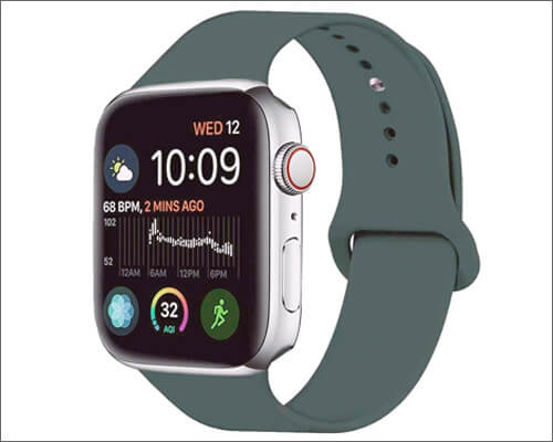 MOOLLY Silicone Sport Band for Apple Watch 4