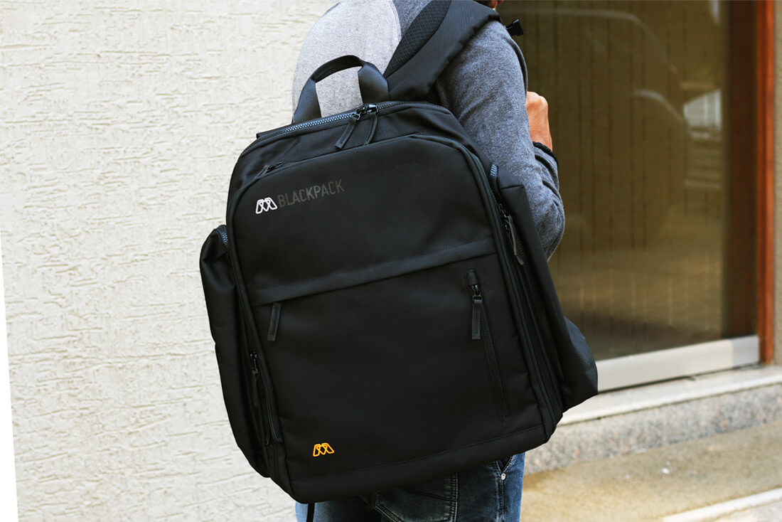 MOS Blackpack is comfortable straps and back