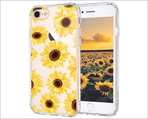 MOSNOVO Floral Sunflower Design iPhone SE 2020 Case for Women