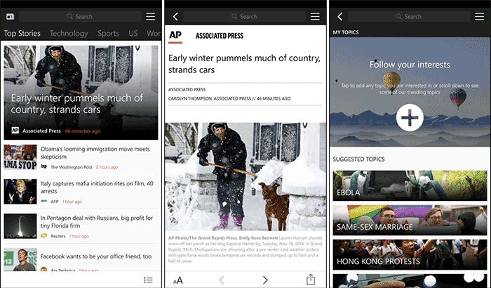 MSN News iPhone and iPad App Screenshot