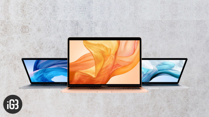 MacBook Air 2018 vs. MacBook Pro Without Touch Bar