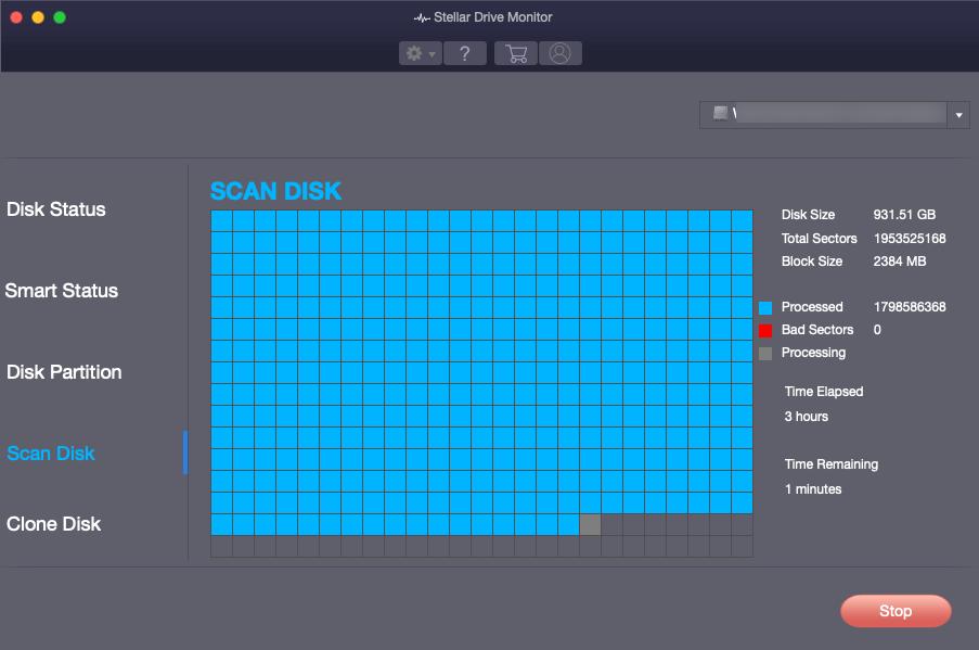 MacBook Drive Checking using Stellar Data Recovery
