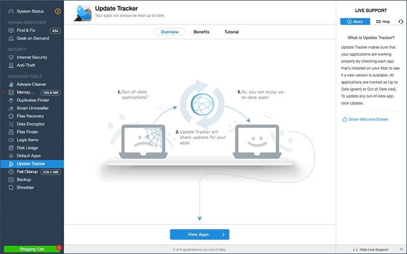 MacKeeper Mac Update Tracker