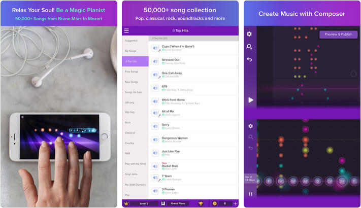 Magic Piano by Smule iPhone and iPad App Screenshot