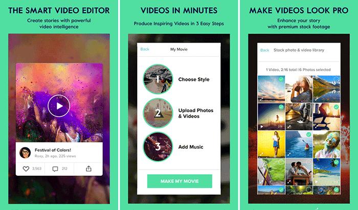 Magisto Video Editor & Movie Maker iPhone App Screenshot